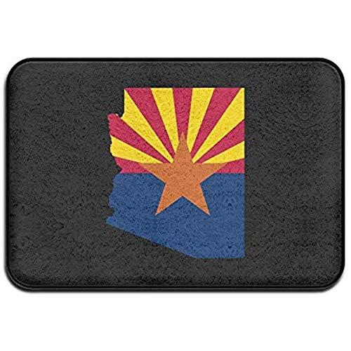 vbndgfhjd Flag Map Arizona Personalized Door Mats (Honig Arizona)