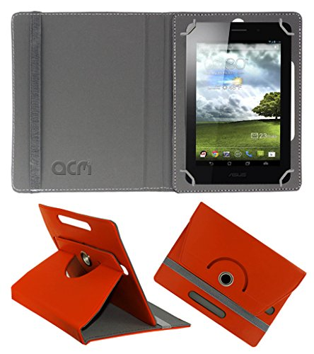 Acm Rotating 360° Leather Flip Case for Asus Fonepad 7 Cover Stand Orange  available at amazon for Rs.149