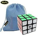MoYu WEILONG 3x3 3 Layers Magic Cube Speed Puzzle Cube Black + One MoYu Cube Bag