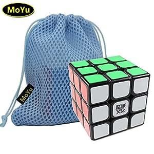 MoYu Weilong 3x3x3 Speed Puzzle Magic Cube Black With a MoYu Cube Bag moyu weilong 3x3x3 cube noir avec une vitesse puzzle magique moyu cube sac