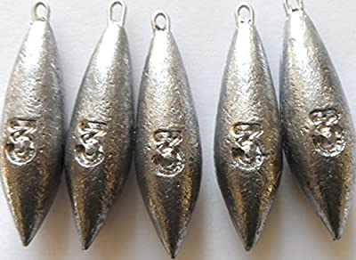 3oz Plain Sea Fishing Weights Pack Of 5 from fishwithfinn