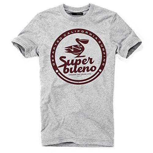 DEPARTED Herren T-Shirt mit Print/Motiv 4115-030 - New fit Größe L, Grau Melange -