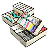 #2: Stvin Storage Box/Drawer Organizer for Innerwear, Clothing Organizer, Underwear Organizer, Bra Organizer, Socks Organizer, Tie Organizer, etc (Set of 4)-Beige