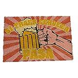 koko doormats - Felpudos Divertido para la Entrada de casa - Si traes Cerveza Pasa - PVC, Coco, 40 x 60 cm