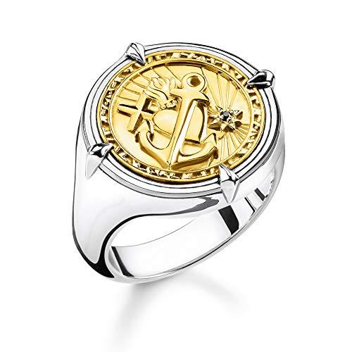 Thomas Sabo Unisex-Ring Glaube Liebe Hoffnung 925er Sterlingsilber geschwärzt Gelbgold TR2246-849-39-66