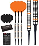 Red Dragon Amberjack 2 Soft Tip Dartpfeile 18g – 90% Tungsten Darts Set (Steel Dartpfeile) mit Flights, Schäfte, Brieftasche Checkout Card