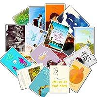 ملصق بطاقات ملصق ملصق لفيلم Call Me by Your Name ملصقات للحاسوب المحمول وزجاجات المياه والدراجة والأمتعة والهاتف والكمبيوتر 25 قطعة