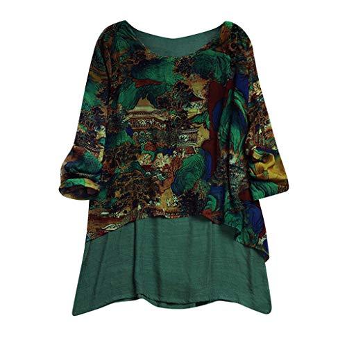 c960b1c2568c9 Lazzboy Tops T Shirt Women Boho Ethnic Long Short Sleeve Oversized Plus  Size Ladies Hippie