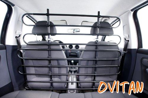 OVITAN Hundegitter fürs Auto 10 Streben universal zur Befestigung an den Kopfstützen der Vordersitze - für alle Automarken geeignet - Modell: V10