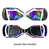 Skin for Self Balancing Scooter Stickers for Scooter Electric Hoover boards Skateboard Decal for Self Balance Electric Skateboard Bluetooth - Cover Fit Real 2 Wheel Scooter - Case Stickers for Motorized Longboard Drifting Boards - Neon Splatter