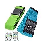 Cinturones Equipaje,Correa Equipaje, Accesorios Viaje - Correa de Embalaje de Equipaje con Ajustable con Clip de Bloqueo de Contraseña
