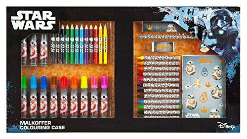 Undercover SWMK7293 Kindergartentasche, Star Wars, ca. 21 x 22 x 8 cm Malkoffer, 62 teilig