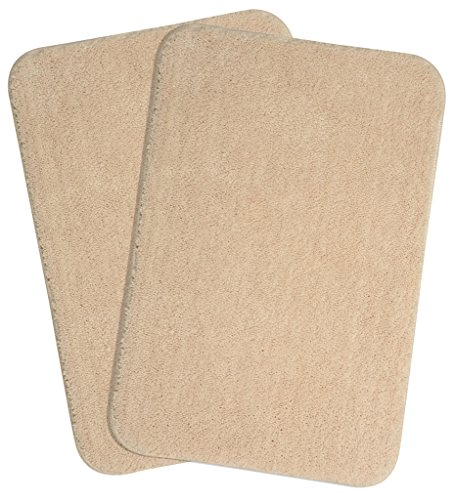 Saral Home Soft Microfiber Anti Skid Bathmat Set of 2pc...