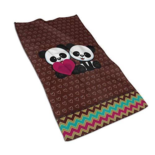 Tyueu Handtuch Gesicht Handtücher Panda Bear Wallpaper Hand Towel Quick-Dry Microfiber Towels Super Soft, Plush and Highly Absorbent Size 27.5