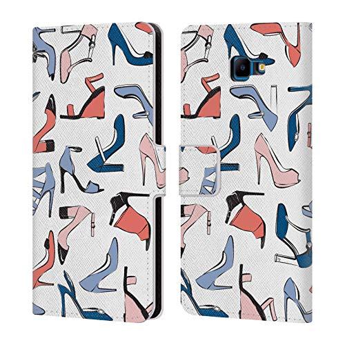 Head Case Designs Offizielle Martina Illustration Modisch Mädchenhafte Schuhe Leder Brieftaschen Huelle kompatibel mit Samsung Galaxy J4 Core