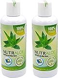 Nutraloe reines 100% Aloe Vera Gel 250ml x 2 Stück