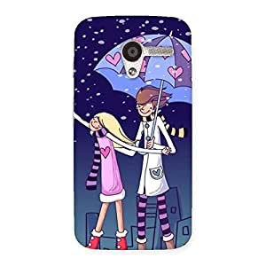 Impressive Anime Couple Multicolor Back Case Cover for Moto X
