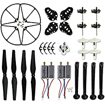 Coolplay® Spare Replacement Parts Kit for Syma X8 X8C X8W Main Blades & Landing Skids & Frames & Main Gears & Main Motors RC Quadcopter (Black)