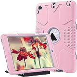 Caso del iPad Mini 1/2/3 ,Ulak iPad Mini 1/2/3 Funda 3in1 híbrido Cases de la cubierta a prueba de golpes Deber pata de cabra pesada para el iPad Mini / iPad Mini 2 / iPad 3 Mini (oro de Rose + gris)