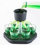 Schnapsquelle mit 6 Gläsern