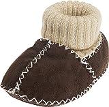 Playshoes Baby-Schuh in Lammfell-Optik mit Strickbund