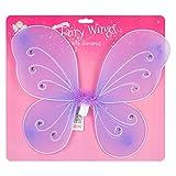 Little Helper wdx92755-lilac Super Cute Y De Alta Calidad alas de hada con decorativo plumas y diamantes, lila–3años +, un tamaño
