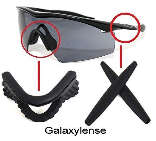 Galaxy ohrsockel mit Pads für Oakley M Rahmen Heizung/Strike/Sweep/Hybrid schwarz - Schwarz, Does not fit M Frame 2.0 M2 Frame