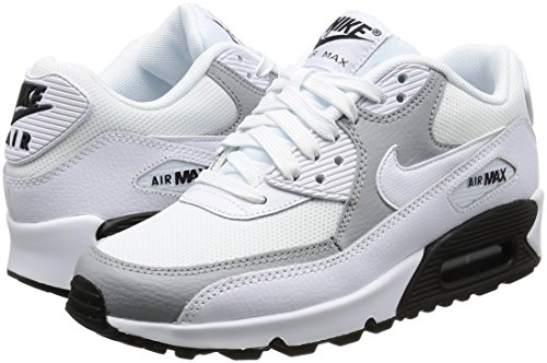 Nike Damen Wmns Air Max 90 Sneakers, Elfenbein (White/White/Wolf Grey/Black), 40 EU - 5
