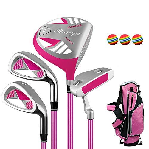 Y-sport Set da Golf per Principianti Golf Set da Golf Set da Golf per Putter da Golf per Bambini di 3-12 Anni, Set da Golf per Bambini a Destra Usato per Ragazzi e Ragazze con 3 Palline da Golf