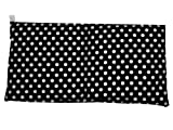 Minaryc Kirschkernkissen mit punkten, gepunktet versch. Farben und Größen (ca. 30x20cm, Schwarz weiße Punkte)