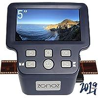 zonoz FS-Dört Dijital Film ve Slayt Tarayıcı HDMI Çıkışı ile - 35mm, 126, 110, Süper 8 ve 8mm Film Negatiflerini ve Slaytlarını JPEG'e Dönüştürür - Büyük Parlak 5 inç LCD, Kolay Yüklenen Film Ek Parçaları Adaptörleri içerir