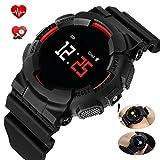 hangang Montre Smart Watch Bluetooth Smart Watch la fréquence cardiaque détecte sommeil podomètre SMS de rappel