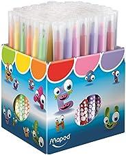 Maped - Feutres de coloriage School Peps - 72 Feutres Lavables Enfant - Longue Durée & Résistants - 72 Feu