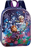 Disney Die Eiskönigin Kinderrucksack Rucksack blau lila 3-6 Jahre Glitzerdruck