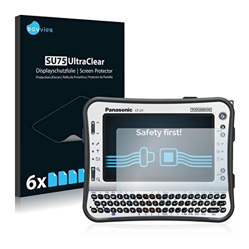 6x Savvies SU75 UltraClear Bildschirmschutz Schutzfolie für Panasonic Toughbook CF-U1 (ultraklar, mühelosanzubringen)