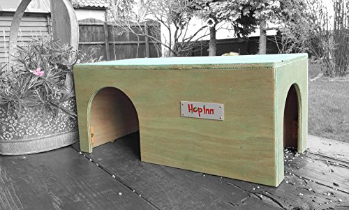 hop-inn-guinea-pig-house-shelter-tunnel-sage-40-cm-long-x-20-cm-wide-x-185-cm-high-indoor-or-outdoor