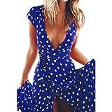 Cocktailkleider - Xjp Frauen Sommer Elegantes Chiffon Maxi Kleid (XXL, Blau)