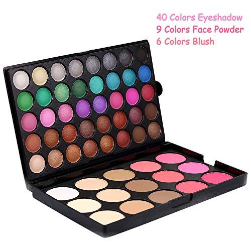 Allbesta Professionelle 55 Farben Lidschatten Platte Make-up Eyeshadow Blush Powder Palette