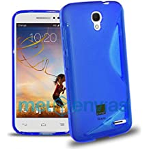 Funda para ORANGE ROYA GEL TPU Diseño S-Line Color AZUL
