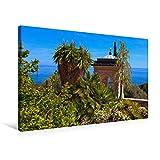 """Special-Edition der Leinwand """"Pavillon"""" im Format """"75x50"""" als perfektes Geschenk oder als Dekoration für das Schlafzimmer, Büro oder Wohnzimmer.Die Hanbury Gärten an der ligurischen Riviera sind sowohl ein wunderschöner Park direkt am Meer als auch e..."""