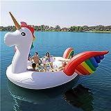 WXH Flotador del Unicornio de la Isla de los pájaros Gigantes, Barco Flotante...