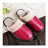 GAOHUI GAOHUI Slippers Männer Herbst Winter Wärme- Wasserdicht Künstliche Samt Leder Hausschuhe Zugeschnitten Home Paar Schuhe