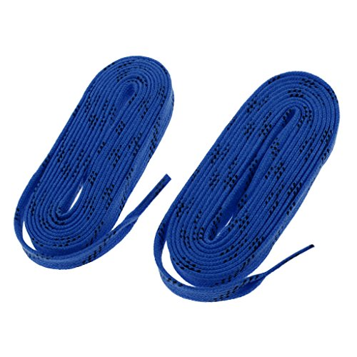 Dolity 1 Paar Premium Sport Schnürsenkel für Schlittschuhe Eishockey Hockey - 120 Zoll, Blau