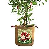 Retro Pepper Grow Bag, 10 Gallon