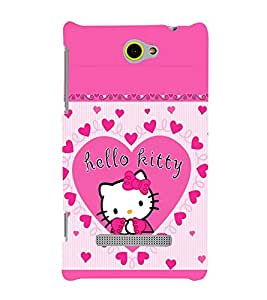 printtech Kitty Cute Back Case Cover for HTC Windows Phone 8S
