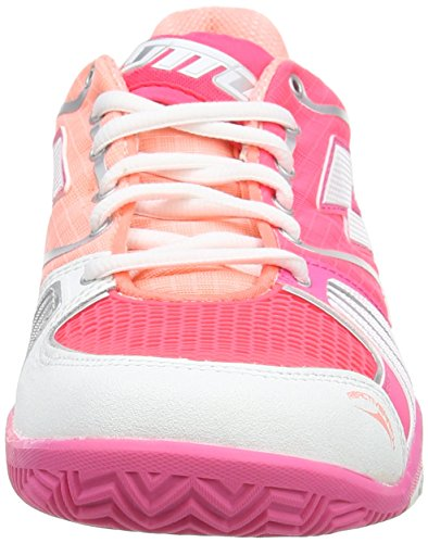 Lotto Stratosphere Cly W, Chaussures de Tennis femme Rose - Pink (PINK FL/WHT)