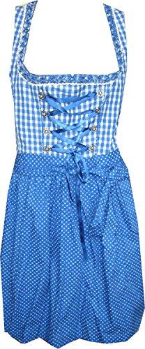 Country Life Dirndl Irmi 55cm in Blau kariert Blau