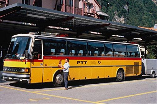 581098 Swiss Setra Post Bus With Trailer Meiringen 1995 A4 Photo Poster Print 10x8 -
