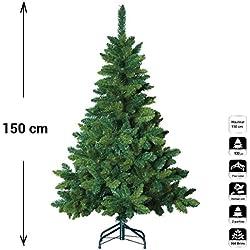 Árbol de Navidad artificial blooming VERDE - Altura: 1,50m - 369 ramas - Calidad de lujo