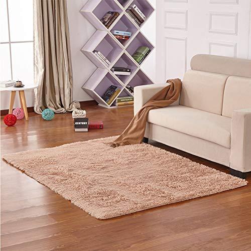 JIAX 120 * 160 cm Einfarbig Badezimmer Matte Boden Dekor Teppiche Badematte Plüsch Teppiche für Wc WC Toilette Raum Fußmatten,Camel -